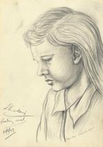 E. Gaston Longney - 1949 Graphite Drawing, Feeling Sick - $19.08