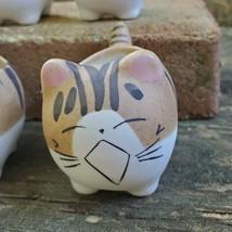 "Ceramic Cat Planters, set of 6, 2.5"" Animal Pots, Emotion Face Kitten Kitty image 7"
