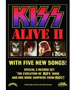 KISS Band ALIVE II Promo Ad 20 x 30 Reproduction Poster - Rock Music Memorabilia - $45.00
