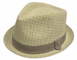 Who Ced Broadway Paper Braid Straw Fedora Fully Lined Sweatband Natural ... - $47.00