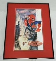 Amazing Spiderman 16x20 Framed Poster Marvel Rick Leonardi - $79.19