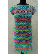 Rainbow crochet women dress, crochet clothing, summer dress, lace dress,... - $79.00