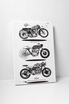 "Power Spirit Motorcycle Pop Art Gallery Wrapped Canvas Print. 30""x20 or ... - $42.52+"