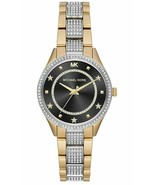 Michael Kors Lauryn Two Tone Gold Silver Glitz Womens Watch MK4403 New - $144.99