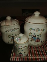 Vintage International China Heartland Stoneware Canister Discontinued - ... - $59.39