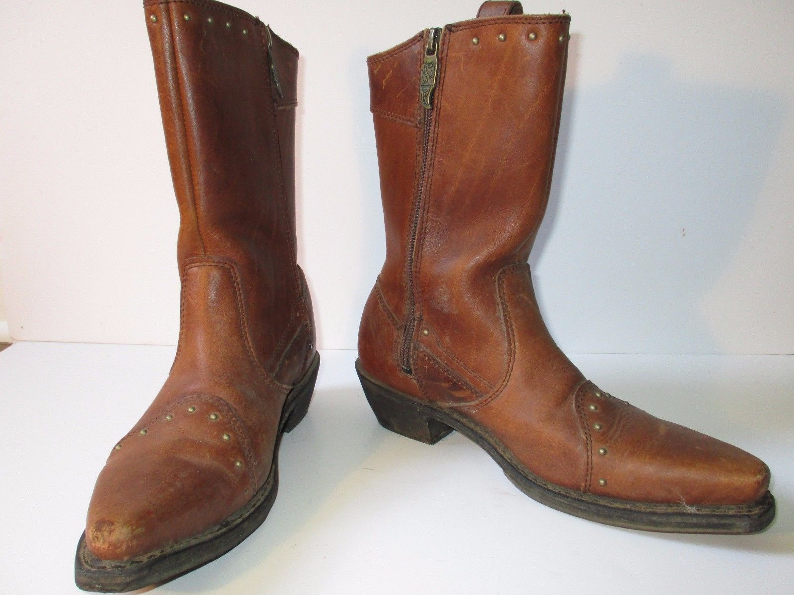 d81e324f0417 Harley Davidson Boots brown leather brass and 50 similar items. 57