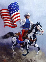 Rodeo Flag Paint Horse Cross Stitch Pattern***LOOK*** ***DOWNLOAD*** - $4.95