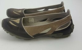 Merrell Oceania Brown Vibram Tread Slip on Athletic Flats Shoes Womens S... - $19.79