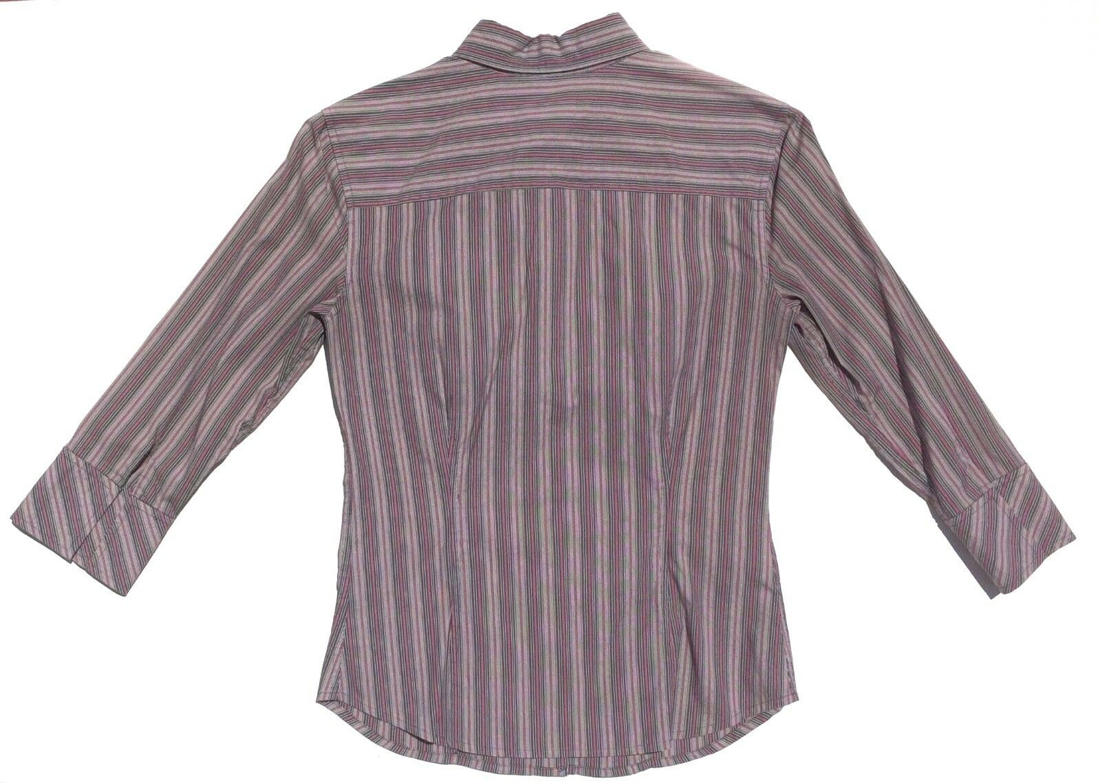 lot 2 dress shirts button 3/4 sleeve fitted stripe Old Navy size XS Express sz 2 image 5