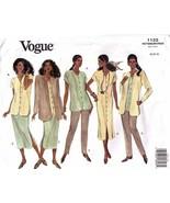 1993 Misses JACKET, DRESS/TOP, SKIRT & PANTS Vogue Pattern 1122-v Sz 18-22 UNCUT - $14.00