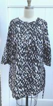 Charter Club Womens Sz 14W  Top Tunic Black Brown Taupe Animal Print Cot... - $34.00