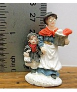 Christmas Village Accessory Lady Wearing Glasses & Child VGood Condition... - $6.92