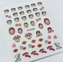 BANG STORE Nail Art 3D Decal Stickers Betty Boop Hearts Dog Kisses Valentine's  - $3.68