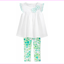 First Impressions Girls' 2-Piece Embroidered Tunic&Floral-Print Leggings, 18 M - $3.30
