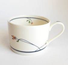 Gorham Ariana Tea Cup Gourmet Collection Floral w/ Blue Band Dinnerware Vintage - $6.95