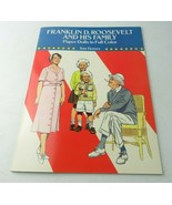 Vintage 1990 Paper Doll Book In Full Color Franklin D. Roosevelt And His... - $15.00