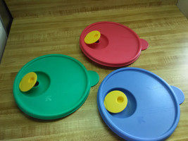tupperware crystal wave lids only - $16.10