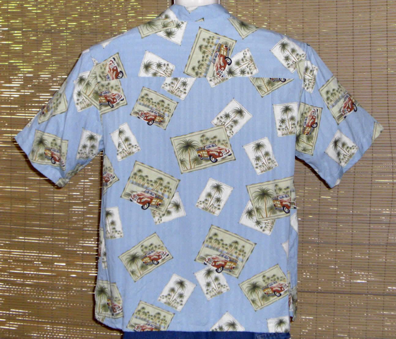 Banana Cabana Hawaiian Shirt Blue Woodies Design XL