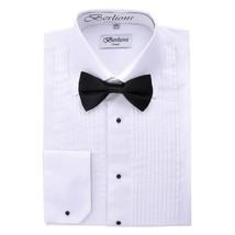 Berlioni Men's Long Sleeve Tuxedo Laydown Collar W/ Bow-tie Dress Shirt ... - $19.00