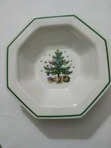 "Nikko Japan Christmastime  9""  Octaganol  Vegetable Bowl  Pristine - $14.03"