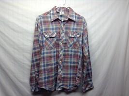 Men's Vintage Plaid Shirt by Alfie California Sz Medium