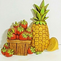 Homco Syroco Dart Co MCM Fruit Plastic Wall Hanging 1975 Vintage 7351 - $12.99
