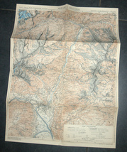 Antique 1930s North Italy Map TCI Carta Merano & Surroundings South Tirol Alpine image 4