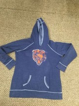 Chicago Bears Football Blue Hoodie Sweatshirt Women's XL Good Condition - $17.81