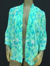 Adrianna Papell Green Edge To Edge Sheer Blouse Size Medium NWOT - $19.79