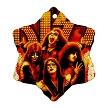 Memorabilia Ornament - Kiss Band Procelain Ornaments (Snowflake) Christmas - $3.49