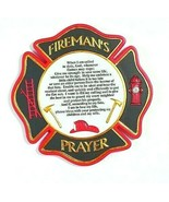 FIREMAN'S PRAYER Full Color MALTESE CROSS Wall Plaque or Stepping Stone - $17.32