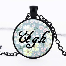 """UGH"" ALLERGIES CABOCHON NECKLACE   (8617)   >>  C/S & H AVAILABLE   - $2.75"