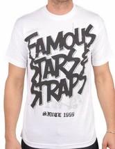 Famous Stars & Straps Steel White FSAS FMS Travis Barker Blink 182 T-Shirt NWT