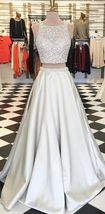 Hot sexy two-piece suit prom Dresses long prom dress, lace prom dress - $179.00