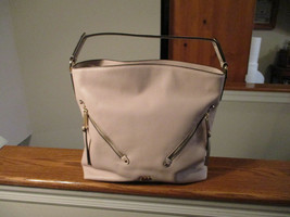 Authentic Michael Kors Evie Large Hobo Bag Soft Pink Pebbled Leather NWT... - $168.29