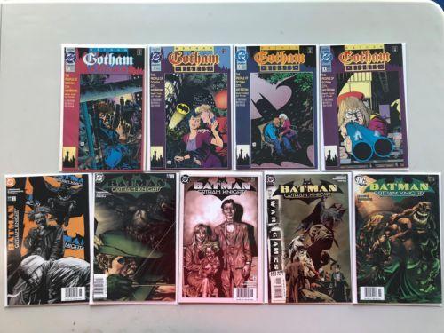 Lot of 9 Batman Gotham Nights (1992) #1-4 (2000) from #52-54 56 69 VF Very Fine