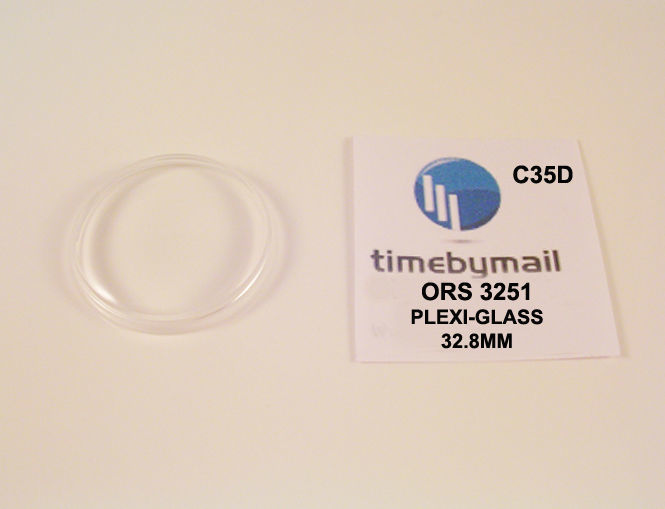 For ORIS 3241A Plexi-Glass Watch Crystal 32.7mm Replacement New Spare Part C35C - $19.83