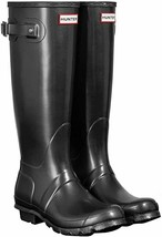 HUNTER Original Tall Nebula Womens Wellington Boots 10M Black NEW - $173.23