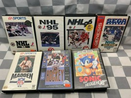 (Lot de 7) Sega Genesis Jeux Vidéo NHL 94 95 96 Sonic Madden - $31.23