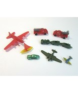 Lot of 8 Vintage Mini Toy Vehicles -Fire Engine - Boat - Car - Hong Kong... - $12.99