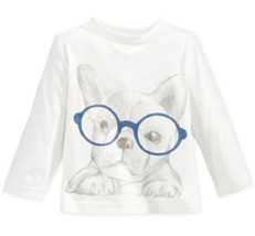 First Impressions Baby Boys' Long-Sleeve Dog-In-Glasses T-Shirt,Size 3-6 Months - $9.89