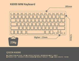 Qsenn K6000 Korean English Mini Keyboard Tenkeyless USB Wired Keyboard image 7