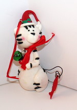 White Kitty Cat with Jingle Bell-Christmas Ornament By Kurt Adler-Displa... - $8.54