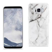 Reiko Samsung Galaxy S8 EDGE/ S8 Plus Streak Marble Cover In White - $8.86