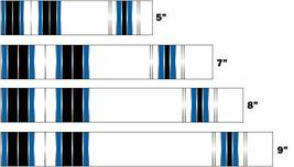 An item in the Sporting Goods category: White Water Archery Laminated Blue Traditional 9 Crest Arrow Wraps 15 pk Choose