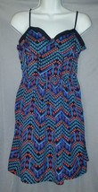 Forever 21 Dress Blue Black Navajo Print Sleeveless Sundress Polyester S... - $7.69