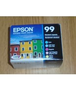 5-PACK Epson GENUINE 99 Color Ink Cartridges 2022 Cyan Magenta Yellow - $46.74