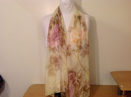 Peony Sheer Fabric Scarf, pastel colors of your choice image 3