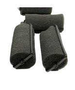 Vintage Foam Sponge Hair Rollers Curlers Black Set of 22 Mothers Day - $9.99