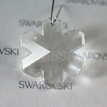 1 piece Vintage Swarovski Strass logo 6704 35mm Snowflake Pendant CLEAR - $6.62